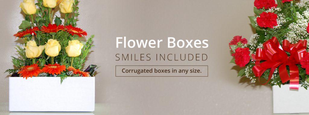 Santa Fe Springs corrugated cardboard flower packaging boxes smiles included