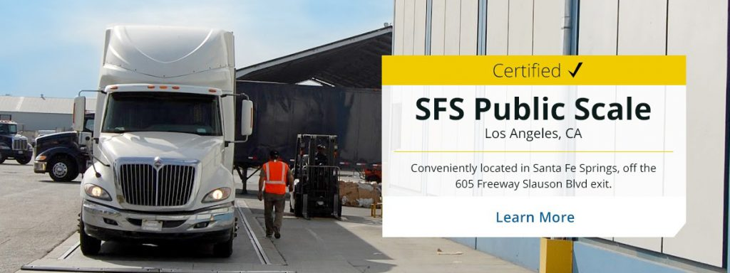 Orange County Gabriel Container certified SFS public scale weight station located in Los Angeles